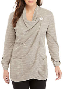 New Directions® Textured Roll Sleeve Jacket