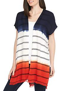 New Directions® Ombre Hem Stripe Cardigan