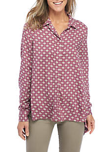Collared Long Sleeve Button Down Shirt