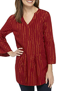 Pintuck Pleated Tunic