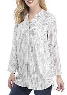 Long Sleeve Cinch Side Top