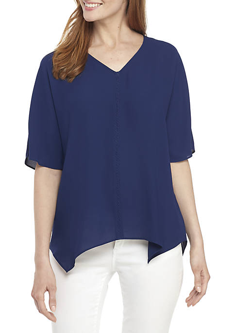 New Directions® Short Sleeve V-Neck Top