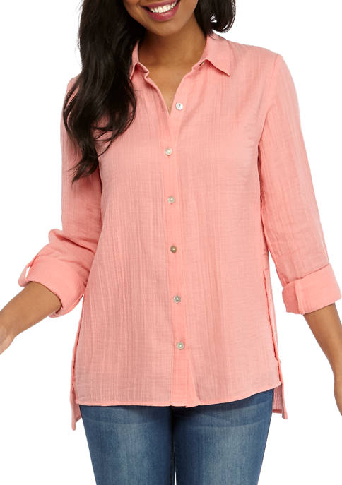 Womens Button Tunic