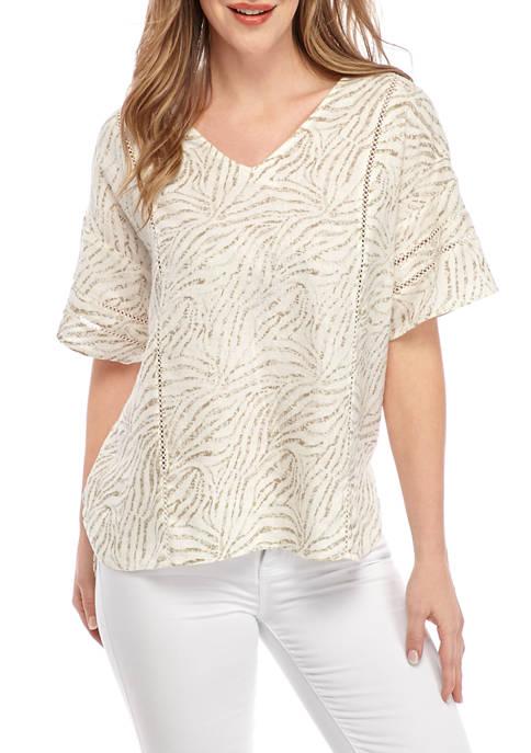 Womens Short Sleeve High-Low T-Shirt
