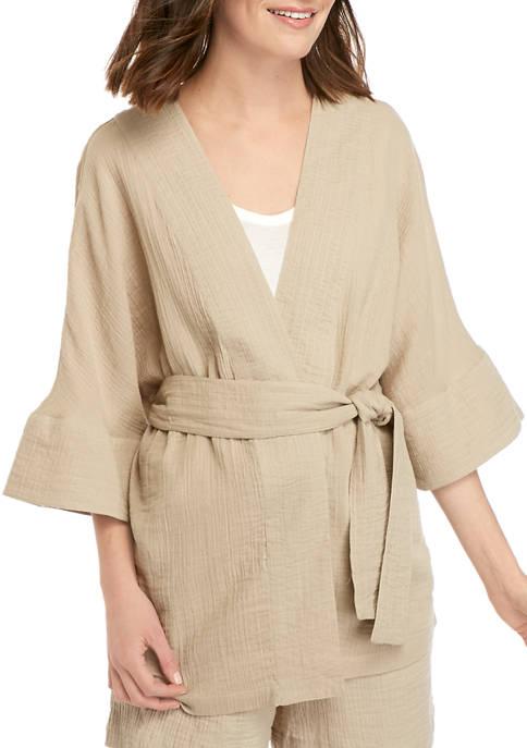 New Directions® Womens Gauze Kimono