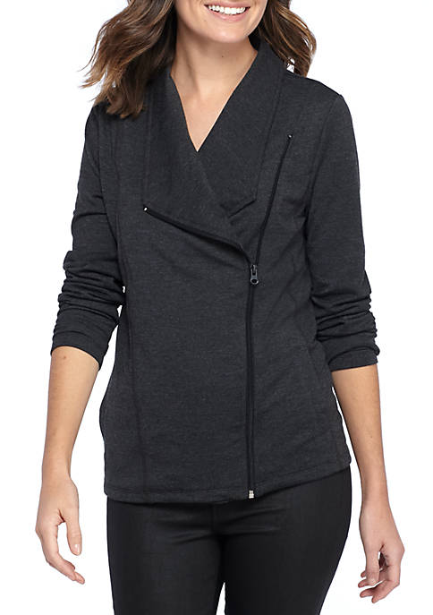 New Directions® Front Side Zip Jacket