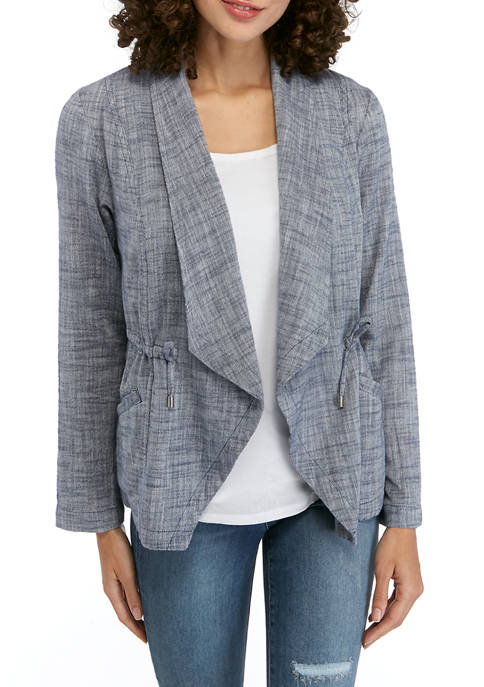 New Directions® Petite Drape Front Blazer
