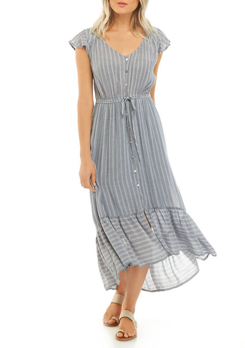 New Directions® Petite Flutter Sleeve Midi Dress