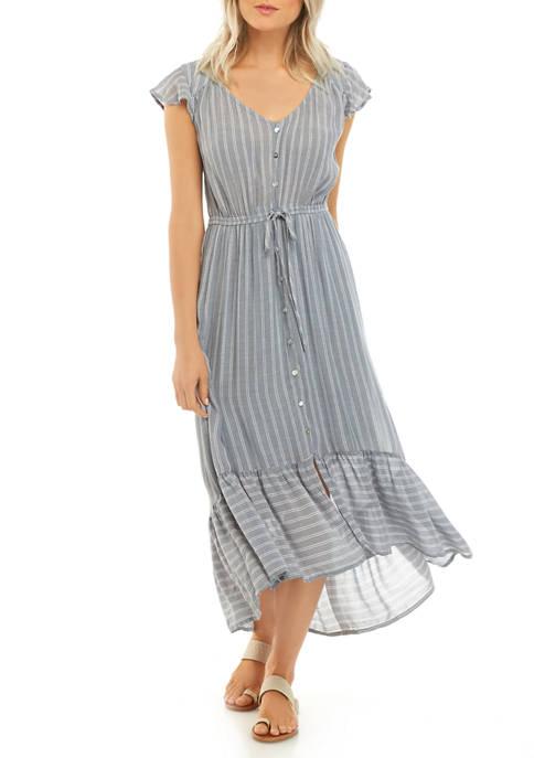 Petite Flutter Sleeve Midi Dress