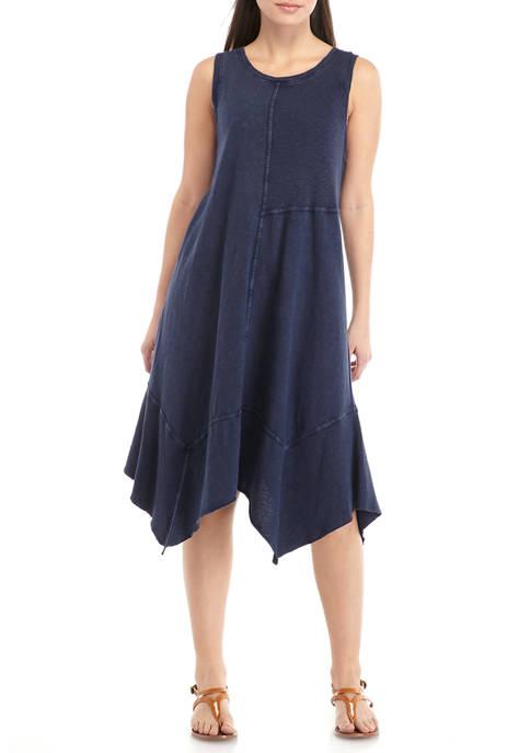 New Directions® Petite Sleeveless Asymmetrical Knit Dress
