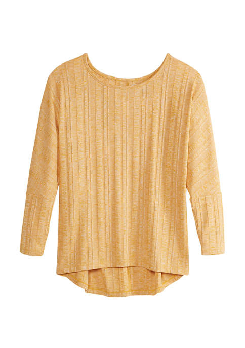 New Directions® Petite Ribbed Dolman Sleeve Top