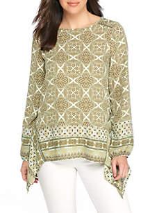 Petite Size Embroidered Bib Tunic