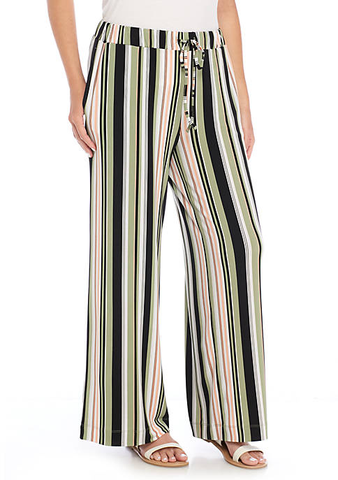 New Directions® Petite Size Tie-Waisted Wide Leg Pants