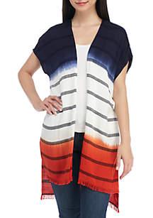 Petite Ombre Hem Stripe Cardigan