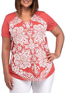 02d6b5d8 ... New Directions® Plus Size Short Sleeve Graphic T Shirt