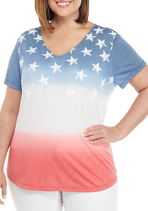 Plus Size Short Sleeve Graphic T Shirt