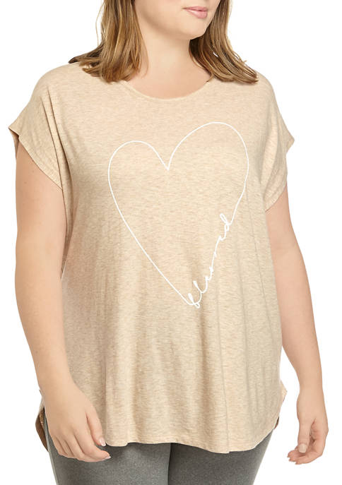New Directions® Plus Size Short Sleeve Knit Graphic