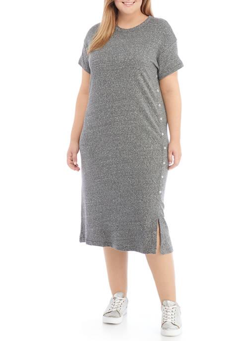 New Directions® Studio Plus Size Drop Shoulder Button
