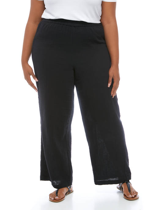 New Directions® Plus Size Pull On Wide Leg