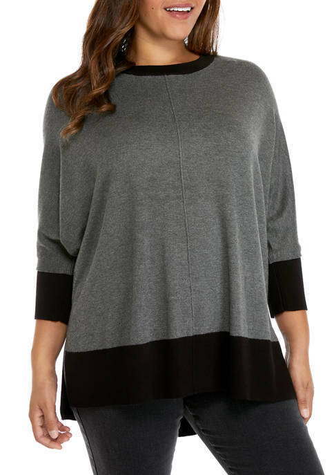 New Directions® Plus Size Fly Away Dolman Sleeve