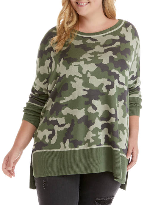 New Directions® Plus Size Flyaway Dolman Sleeve Top