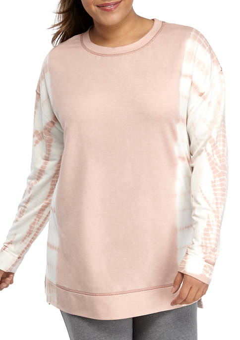 New Directions® Plus Size Tie Dye Pullover