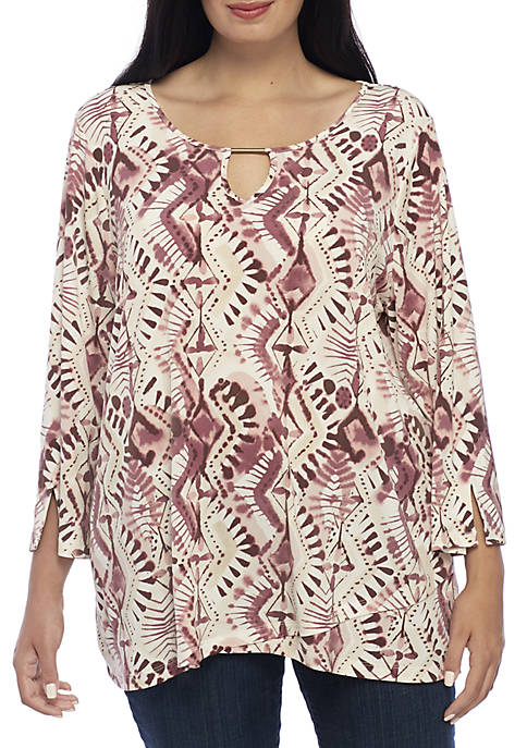 New Directions® Plus Size Tulip Hem Top with