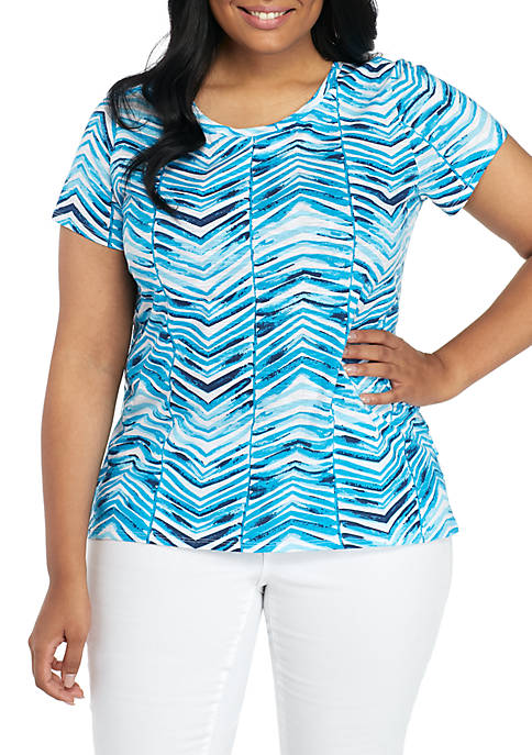New Directions® Plus Size Short Sleeve Scoop Neck