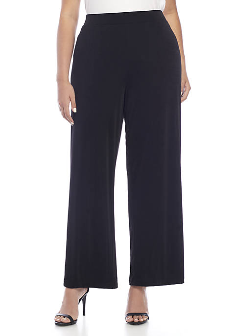 New Directions® Plus Size Knit Pull-On Pants