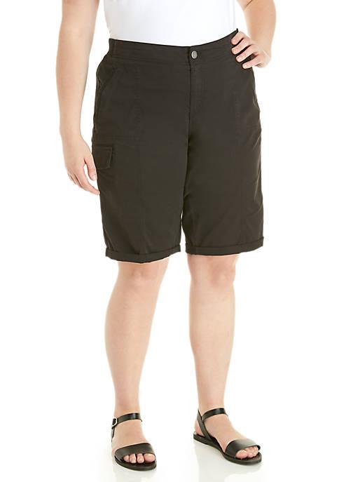 New Directions® Plus Size Cargo Bermuda Shorts