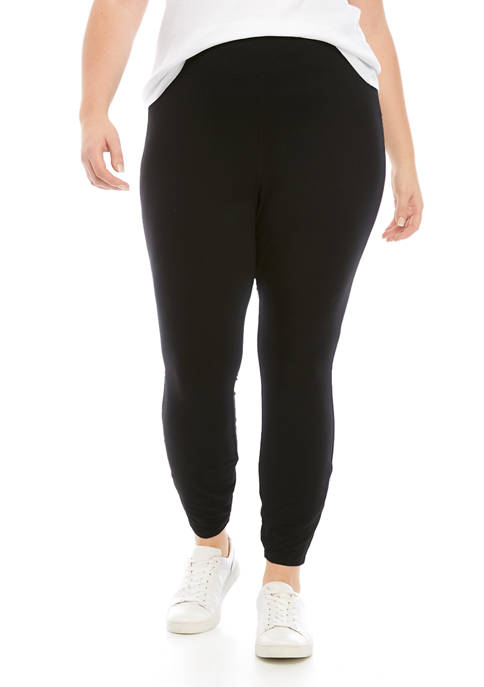 New Directions® Plus Size Solid Yummy Leggings