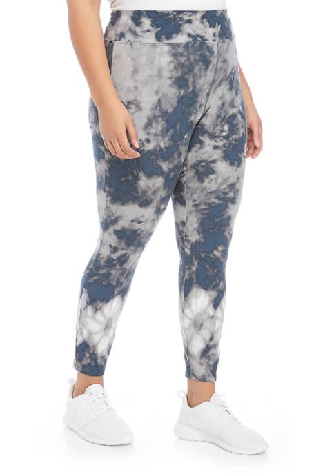 New Directions® Plus Size Tie Dye Printed Leggings