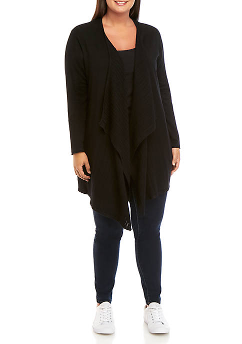 New Directions® Plus Size Long Sleeve Cardigan