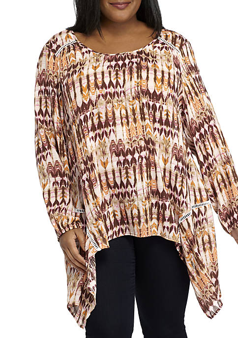 New Directions® Plus Size Sharkbite Tunic