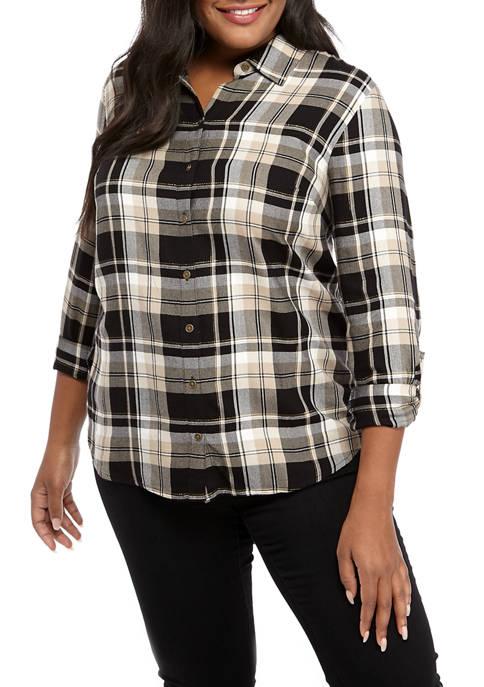 Plus Size Boyfriend Shirt