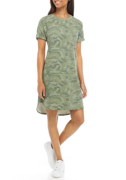 Studio Women's Dolman Sleeve Printed Terry Dress