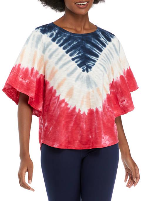 New Directions® Studio Womens Dolman Sleeve Oversized Top