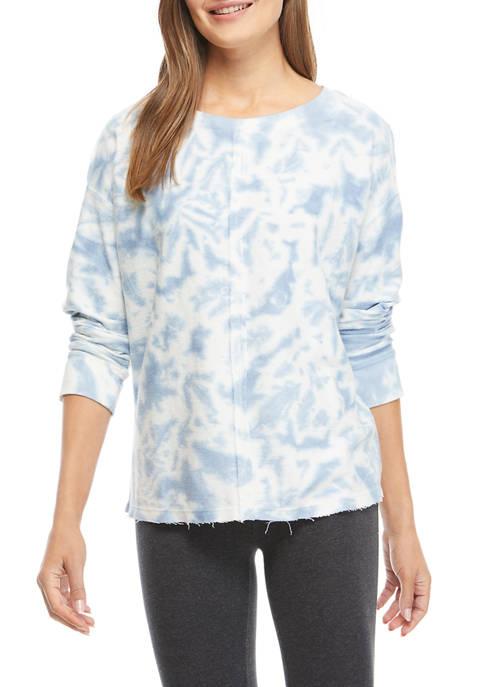 New Directions® Studio Womens Tie Dye Raw Hem