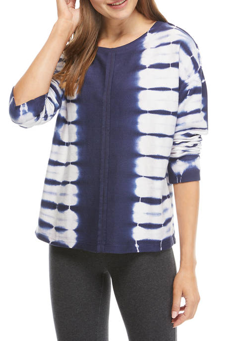 New Directions® Studio Womens Raw Seam Tie Dye
