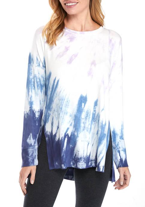 New Directions® Studio Womens Tie Dye Sweatshirt with