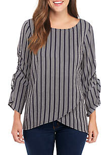Cross-Front Best Seller Cinched Sleeve Tunic