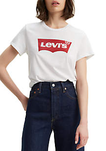 Levi's® The Perfect Tee in Housemark White