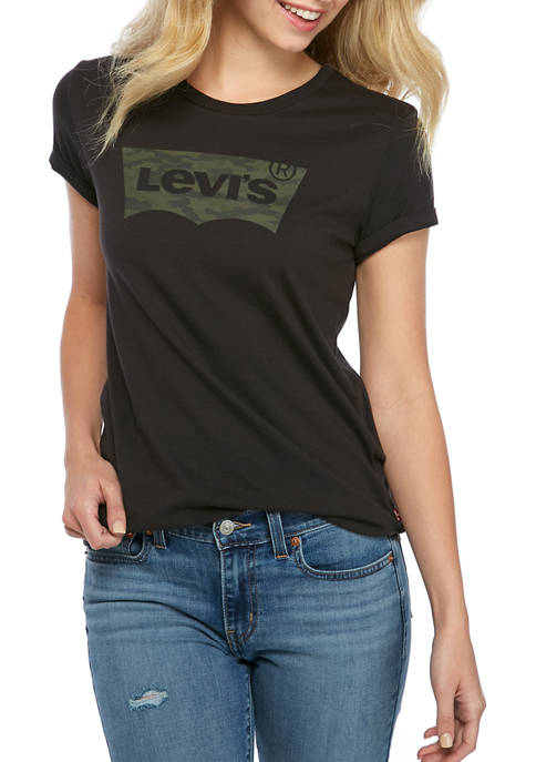 Levi's® The Perfect Black Camouflage T-Shirt