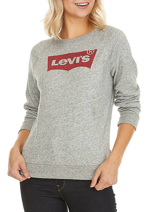 Levi's® Classic Crew Neck Batwing Smokestack Sweater