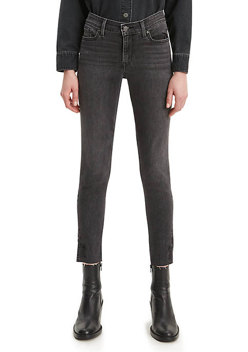 Levi's® 711 Blacked Out Skinny Ankle Jeans