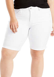 Levi's® Plus Size Shaping Jasmine Bermuda Shorts- White