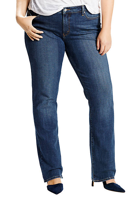 Plus Size Classic Straight Jeans