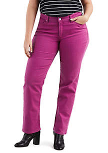 Plus Size 414 Classic Straight Soft Raspberry Radiance Jeans