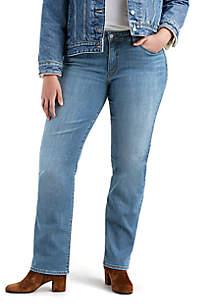 Plus Size Classic Straight Breezy Sea Jeans