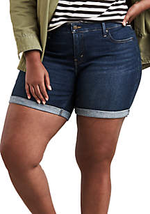 Levi's® Plus Size New Marina Dark Wash Shorts